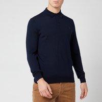 Polo Ralph Lauren Men's Merino Wool Placket Jumper - Hunter Navy - S