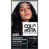 L'Oreal Paris Colorista Permanent Gel Hair Dye (Various Shades) - Deep Black