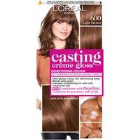 L'Oreal Paris Casting Creme Gloss Semi-Permanent Hair Dye (Various Shades) - 600 Light Brown