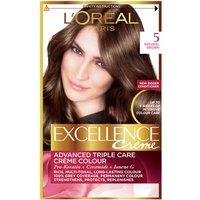 L'Oréal Paris Excellence Crème Permanent Hair Dye (Various Shades) - 5 Natural Brown