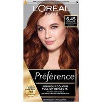 L'Oréal Paris Préférence Infinia Hair Dye (Various Shades) - 6.45 Brooklyn Intense Copper Auburn