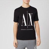 Armani Exchange Men's Large Ax Logo T-Shirt - Black - XXL