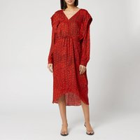 Preen By Thornton Bregazzi Women's Dotted Jacquard Eve Dress - Red Dragon Scale - S
