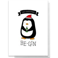Let Christmas Be Gin Greetings Card - Large Card