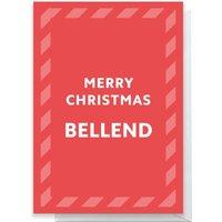 Merry Christmas Bellend Greetings Card - Large Card