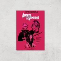 Amores De Vampiros Giclee Art Print - A3 - Print Only