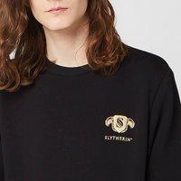 Harry Potter Slytherin Unisex Embroidered Sweatshirt - Black - XL