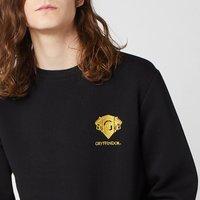 Harry Potter Gryffindor Unisex Embroidered Sweatshirt - Black - XL - Black
