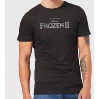 Frozen 2 Title Silver Men's T-Shirt - Black - 5XL - Black