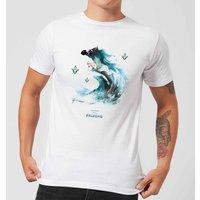 Frozen 2 Nokk Water Silhouette Men's T-Shirt - White - 5XL - White