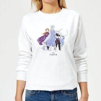 Frozen 2 Group Shot Women's Sweatshirt - White - XL - White