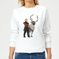 Frozen 2 Sven And Kristoff Women's Sweatshirt - White - L - White
