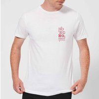 Ho Ho Ho Mens T-Shirt - White - 4XL - White