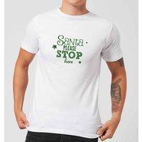 Santa Stop Men's T-Shirt - White - XS - White