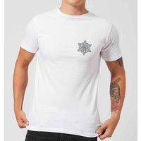 Snowflake Men's T-Shirt - White - 5XL - White