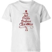 Peace at christmas Kids' T-Shirt - White - 9-10 Years - White
