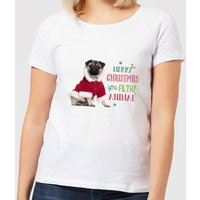 Christmas Pug Women's T-Shirt - White - 3XL - White