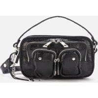shop for Núnoo Women's Helena Croco Cross Body Bag - Black at Shopo