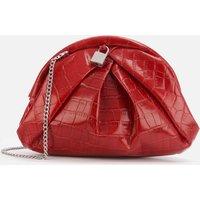 shop for Núnoo Women's Saki Croco Bag - Red at Shopo