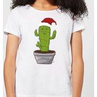 Merry Cactus Women's T-Shirt - White - L - White