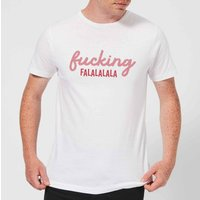 Cross Stitch Fucking Falalalalalala Men's T-Shirt - White - L - White