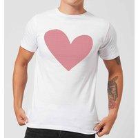 Cross Stitch Heart Men's T-Shirt - White - L - White
