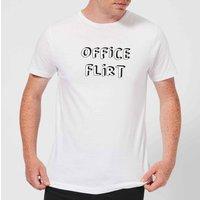 Office Flirt Mens T-Shirt - White - 3XL - White