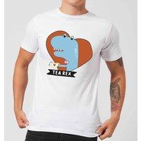 Tea Rex Men's T-Shirt - White - 4XL - White