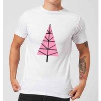 Triangle Christmas Tree Men's T-Shirt - White - L - White