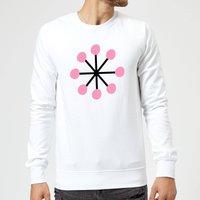 Pink Snowflake Sweatshirt - White - XXL - White