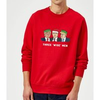Three 'Wise' Men Sweatshirt - Red - XXL - Red - Men Gifts