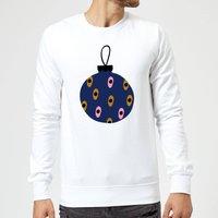 Spotty Bauble Sweatshirt - White - XXL - White