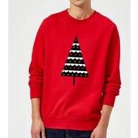 Dark Christmas Tree Sweatshirt - Red - XL - Red