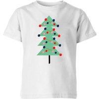 Christmas Tree With Lights Kids' T-Shirt - White - 5-6 Years - White