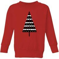 Dark Christmas Tree Kids' Sweatshirt - Red - 3-4 Years - Red