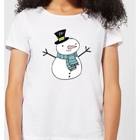 Christmas Snowman Women's T-Shirt - White - XL - White