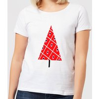 Spotty Christmas Tree Women's T-Shirt - White - 5XL - White