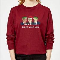 Three 'Wise' Men Women's Sweatshirt - Burgundy - XXL - Burgundy - Men Gifts