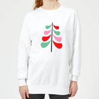 Simple Christmas Tree Women's Sweatshirt - White - XXL - White