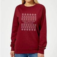 Make Christmas Greta Again Women's Sweatshirt - Burgundy - XS - Burgundy