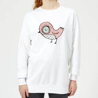 Christmas Bird Women's Sweatshirt - White - M - White