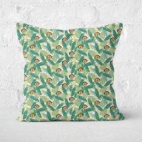 Green Jurassic Park Square Cushion 40x40cm - 40x40cm - Eco Friendly
