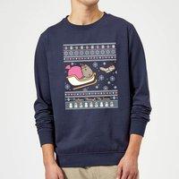 Pusheen Core Pusheen Through The Snow Christmas Sweatshirt - Navy - XL