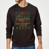 Jurassic Park Clever Girl Christmas Sweatshirt - Black - XL - Black