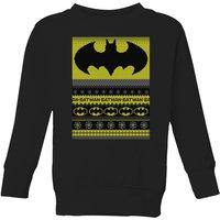 DC Comics Batman Kids' Christmas Sweater in Black - 11-12 Years - Black