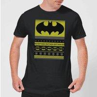 DC Comics Batman Mens Christmas T-Shirt in Black - XL - Black