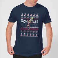 Rick and Morty Ooh Wee Men's Christmas T-Shirt - Navy - XXL - Navy