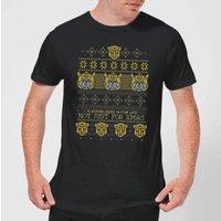 Bumblebee Classic Ugly Knit Men's Christmas T-Shirt - Black - M - Black