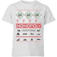 Monopoly Kids' Christmas T-Shirt - Grey - 11-12 Years - Grey