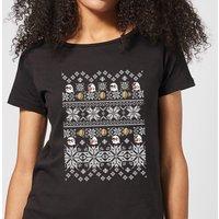 Nintendo Super Mario Retro Boo Women's Christmas T-Shirt - Black - XL - Black